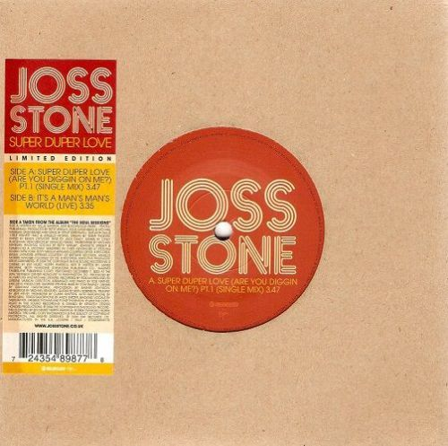 JOSS STONE Super Duper Love Vinyl Record 7 Inch Relentless 2004